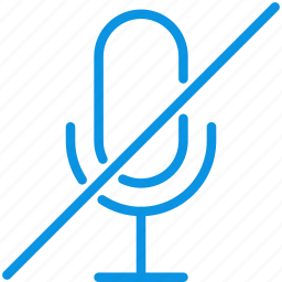 audio, broadcast, mic, microphone, mute, record icon