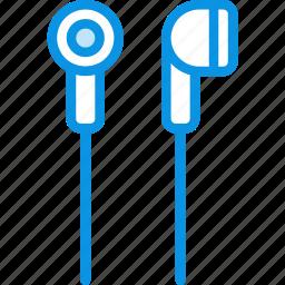 audio, ear, headphones, in, music, plug, sound icon
