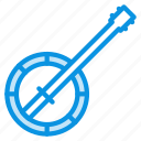 banjo, instrument icon