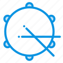 drum, instrument, sticks icon