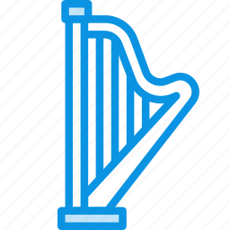 audio, harp, instrument, music, sound icon