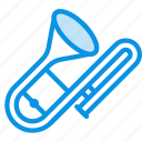 audio, fife, instrument, music, sound, trumpet icon