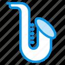 audio, instrument, jazz, music, sax, saxophone, sound icon