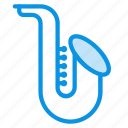 audio, instrument, jazz, music, sax, saxophone, sound icon