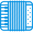 accordion, instrument, music icon