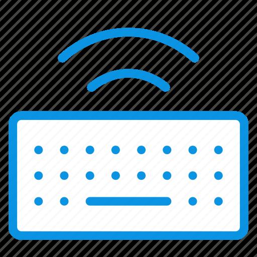 keyboard, keys, wireless icon