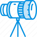 camera, lens, photo, stand, telescope, tripod icon