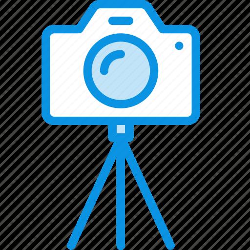 camera, digital, dslr, multimedia, photo, photography, stand, tripod icon