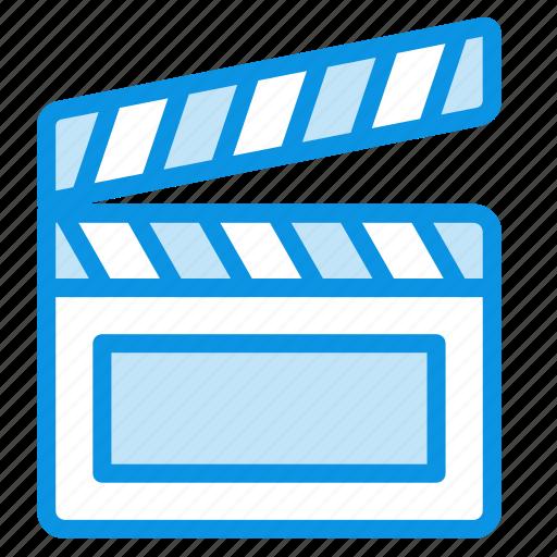 cinema, clapper, director, film, media, movie, video icon