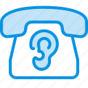 ear, phone, spy icon