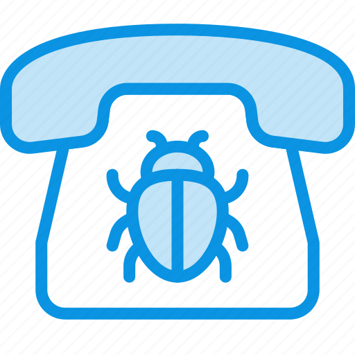 bug, call, communication, contact, listening, phone, spy icon