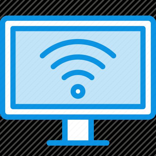 entertainment, internet, smart, television, tv, watch, wifi icon