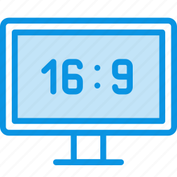 aspect, device, hd, ratio, television, tv, watch icon