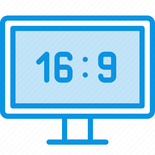 aspect ration, hd, monitor icon