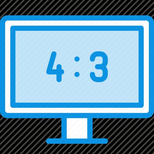 aspect ration, monitor, tv icon