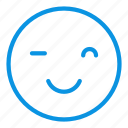 emoji, smile, wink