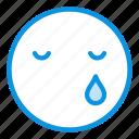 crying, emoji, sad icon