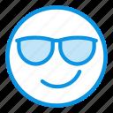 cool, emoji, smile
