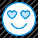 emoji, heart, inlove