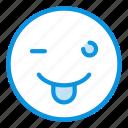 emoji, tongue, wink icon