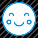 blush, emoji, smile