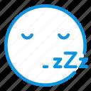 busy, emoji, sleep