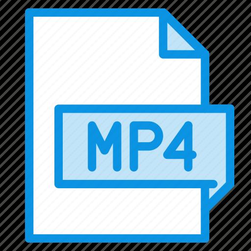 file, movie, mp4 icon