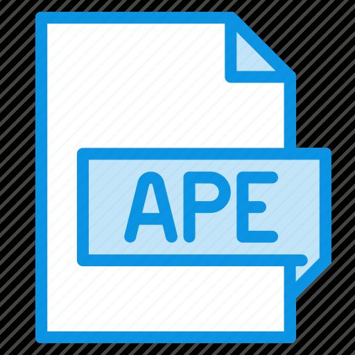 ape, audio, file icon