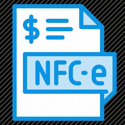 file, invoice, nfce icon