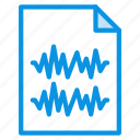 file, stereo, waveform icon