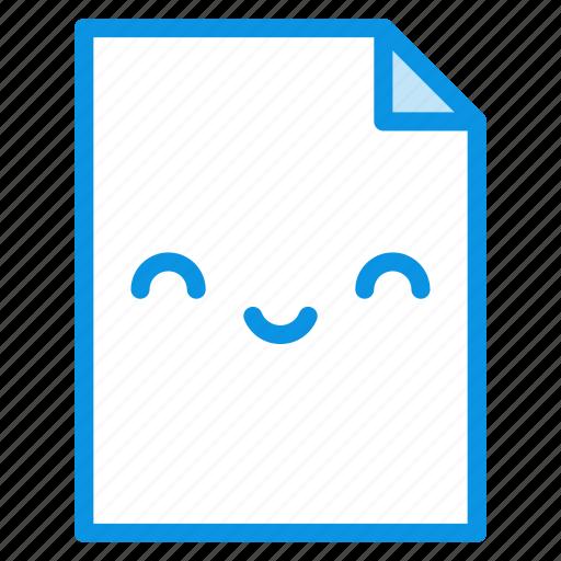 file, kawaii, smile icon