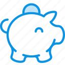 bank, box, cash, coin, money, moneybox, pig icon