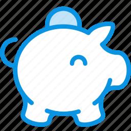 bank, box, cash, coin, money, moneybox, pig icon