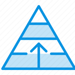 career, finance, growth, management, pyramid, structure icon