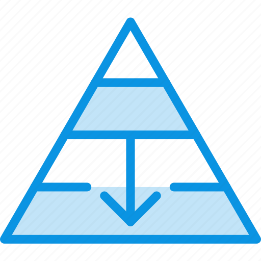 career, descent, fall, finance, management, pyramid, structure icon