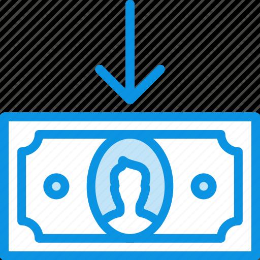 cash, cashin, currency, finance, in, money icon