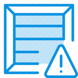 alert, box, crate, package, parcel, product, warning icon