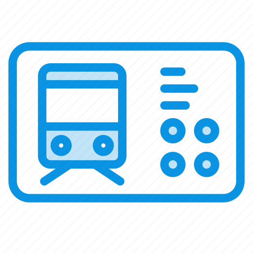 autobus, railroad, ticket, tram, transport, trolleybus, universal icon