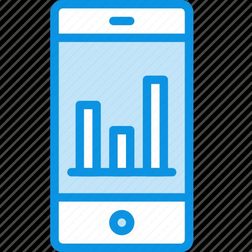 application, diagram, economic, schedule, smartphone, statistic icon