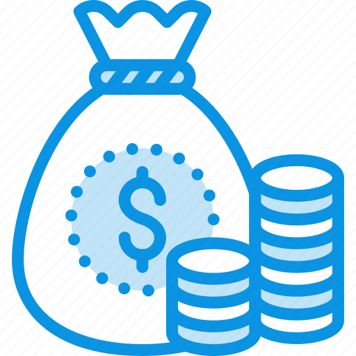 bag, coins, money icon