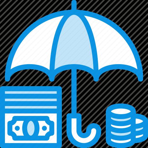 bank, deposit, finance, money, protected, safe, secure, umbrella icon