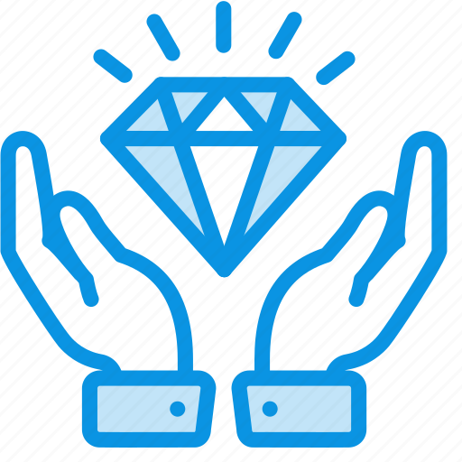 diamond, hands, keep, luxury, safe, secure, wealth icon