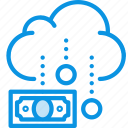 budget, business, cash, cloud, funding, money, rain icon