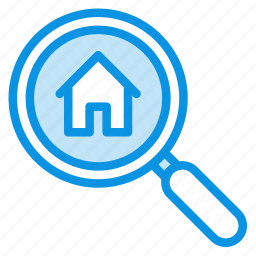 estate, find, home, house, real, search icon