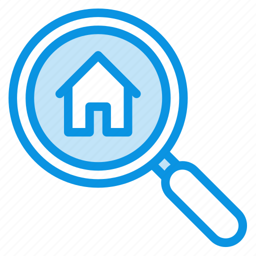 house, search icon