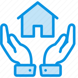 hands, house, protect icon
