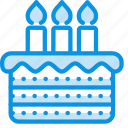 birthday, cake, candle icon