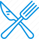 cafe, canteen, dinner, food, fork, knife, lunch, restaurant icon