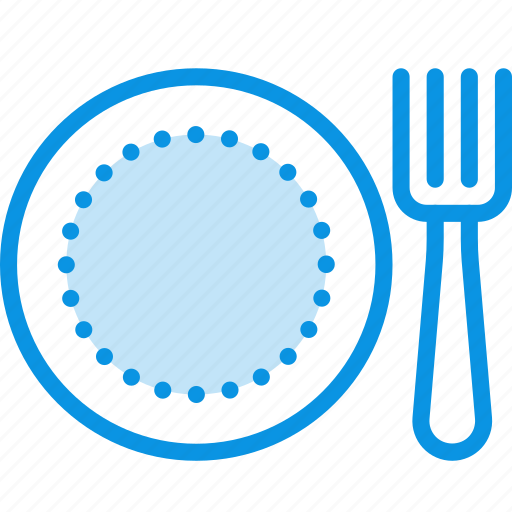 cafe, canteen, dish, food, fork, lunch, plate, restaurant icon
