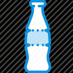 bottle, cola, drink, food, glass, soda, sparkling icon